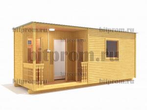 ХБ-09 (6м) – хозблок с туалетом и душем (3 в 1)