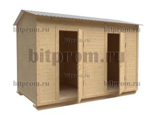 ХБ-10 (4м) – хозблок двухсекционный с двускатной крышей