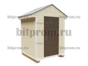 ХБ-11 (2 x 2м) – небольшой хозблок-сарай, отделанный имитацией бруса