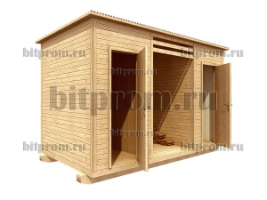 Дровник с туалетом и душем 3 в 1 ХБД-03 (4м)