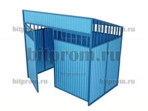 Контейнерная площадка КПМ-01 с воротами (на 2 бака)