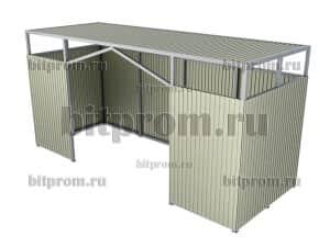 Контейнерная площадка КПМ-04 без ворот (на 4 бака)