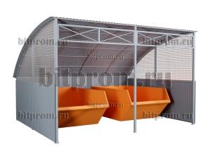 Контейнерная площадка КПМ-06 на два контейнера по 8³