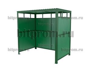 Контейнерная площадка КПМ-07 открытая (на 2 мусорных контейнера)