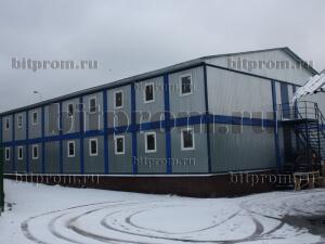 Модульное здание М-01 из 50 блок-контейнеров (ГБУ «Жилищник» Алексеевского района г. Москвы)