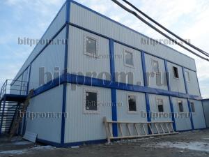Модульное здание М-03 из 26 блок-контейнеров