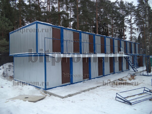 Модульное здание М-05 из 20-ти блок контейнеров БК–01