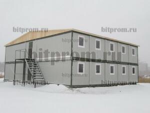 Модульное здание М-06 на базе 24 блок-контейнеров марки «Бытпром»