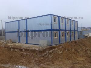 Модульное здание М-07 из 24 блок-контейнеров марки «Бытпром»