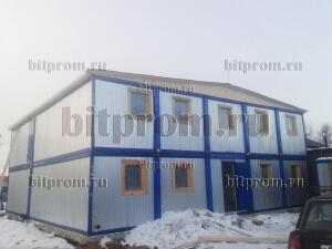 Модульное здание М-08 из 20-ти блок-контейнеров «Бытпром»