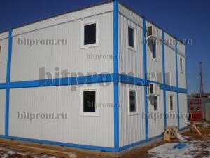 Модульное здание М-09 из 16-ти блок-контейнеров