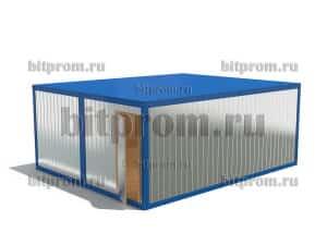 Модульное здание М-13 ДВП из 2 блок-контейнеров БК-00