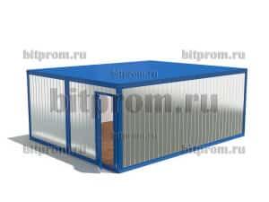 Модульное здание М-14 ПВХ из 2 блок-контейнеров БК-00