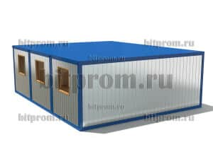 Модульное здание М-15 ДВП из 3 блок-контейнеров БК-00