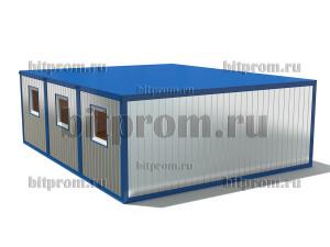 Модульное здание М-16 МДФ из 3-х блок-контейнеров БК-00