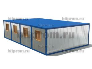 Модульное здание М-17 (ДВП) из 4-х блок-контейнеров БК-00