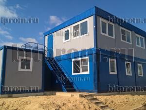 Модульное здание М-20 СП из 6 блок-контейнеров БК-00 СП