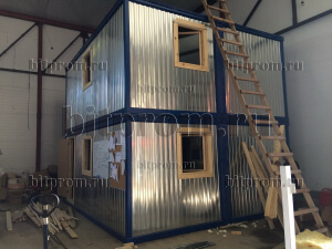 Модульное здание М-26 из 4 блок-контейнеров