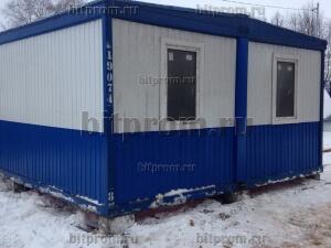 Модульное здание М-32 из 2-х блок-контейнеров (сине-белое)