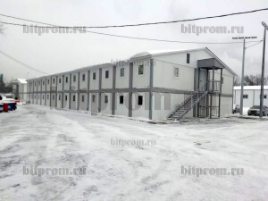 Модульное здание М-48 (сэндвич) из 76 блок-контейнеров БК-00 СП