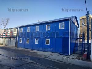 Модульное здание М-49 СП (сэндвич) из 10 блок-контейнеров БК-01 СП