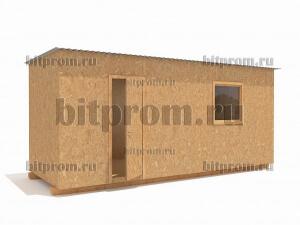 НБ-01 (6м) – универсальная бытовка, отделанная влагостойким ДСП