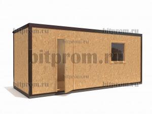Блок-контейнер НБК-01 ДСП с внешней отделкой влагостойкой древесно-стружечной плитой
