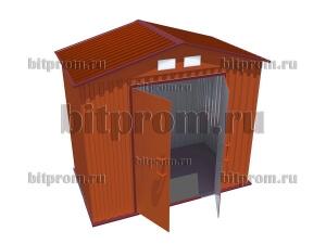 СМ-01 Сарай-хозблок металлический (2,5м x 1,5м)