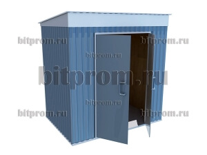 СМ-02 Сарай-хозблок металлический утеплённый (2,3м x 1,6м)