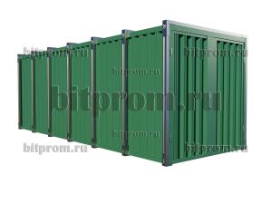 СРК-06 УК - сборно-разборный контейнер усиленный цветной (2,1м х 2,1м х 2,1м)