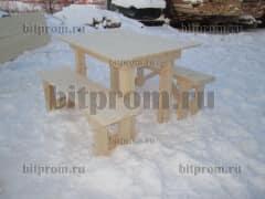 Установка деревянной лавочки