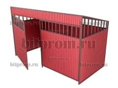 Контейнерная площадка КПМ-02 с воротами на 3 контейнера