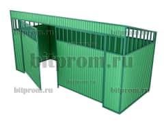 Контейнерная площадка КПМ-03 с воротами на 4 контейнера