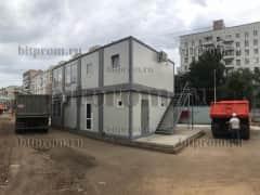 Модульное здание М-52 из 8 блок-контейнеров «сэндвич»
